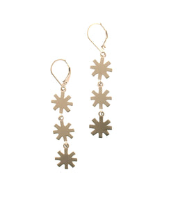 Triple Distant Star Earrings