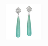 Endless Knot Drop Earrings