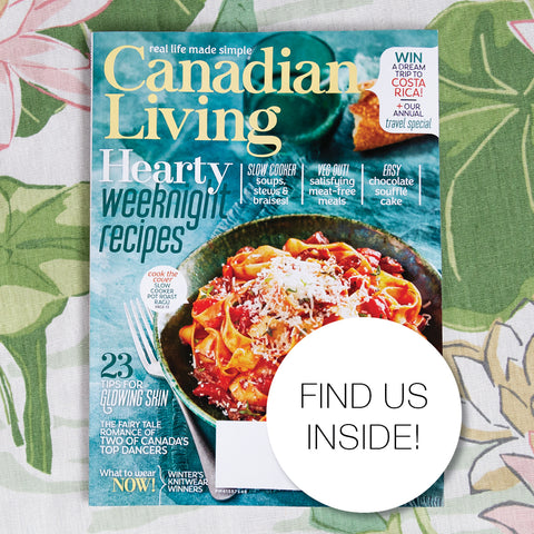 Cover of Canadian Living January 2019 featuring Tonic Living pillow