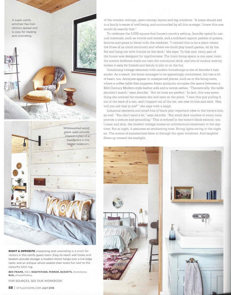 Jetsetter, Cognac Pillow - Style at Home July 2018 Issue featuring Tonic Living
