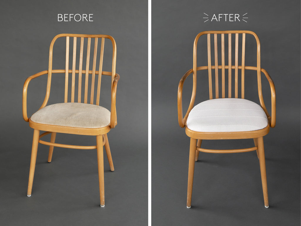 vintage scandi bentwood chair makeover