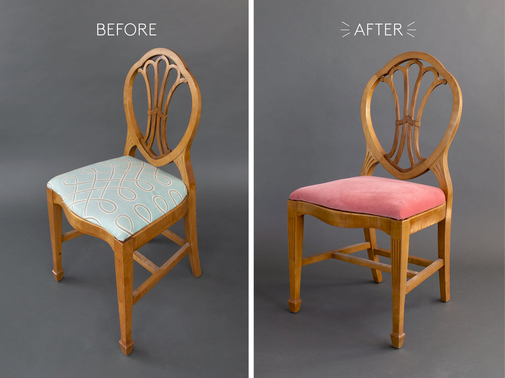 vintage victorian side chair makeover
