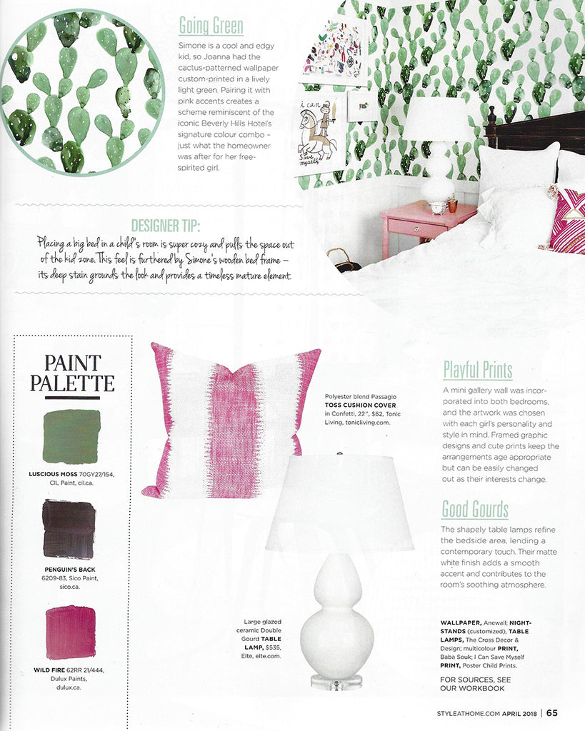 Passagio Blush Pillow Style at Home April 2018 Issue