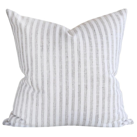 Simple Stripe, Grey/White pillow by Tonic Living
