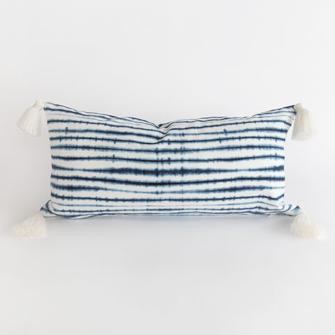 Stella shibori inspired blue and white pillow from Tonic Living