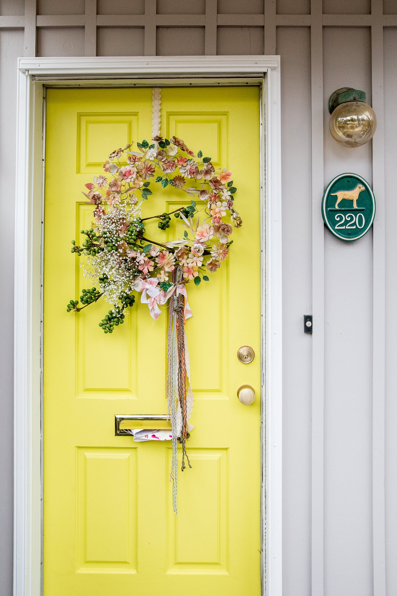 Tiffany Pratt colourful Toronto home yellow door