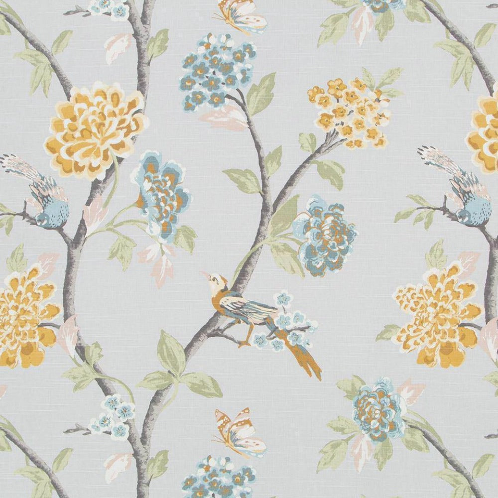 Helene Floral, French Grey - Tonic Living