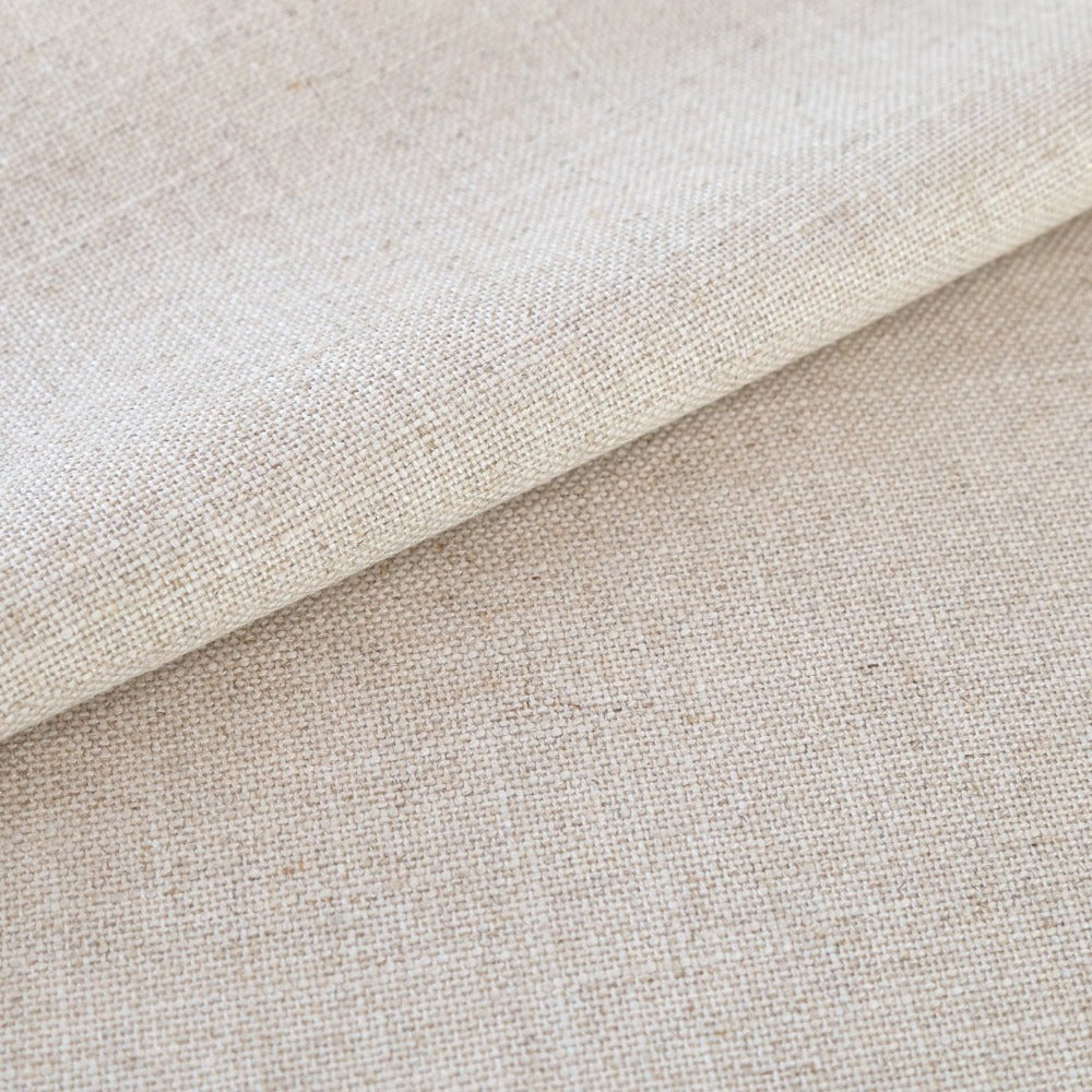 Adelaide beige oatmeal linen blend fabric from Tonic Living