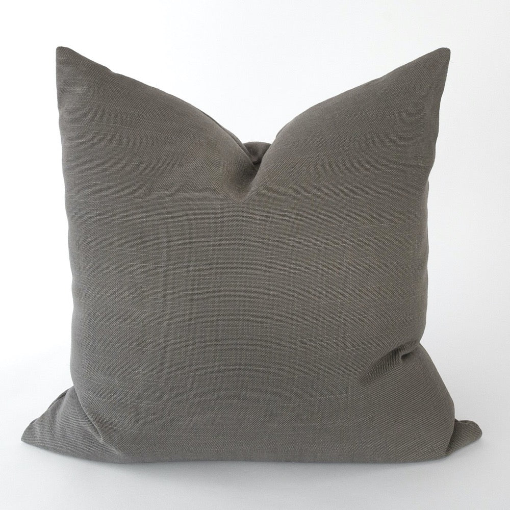 Adelaide Pillow, Graphite a linen blend charcoal grey pillow from Tonic Living