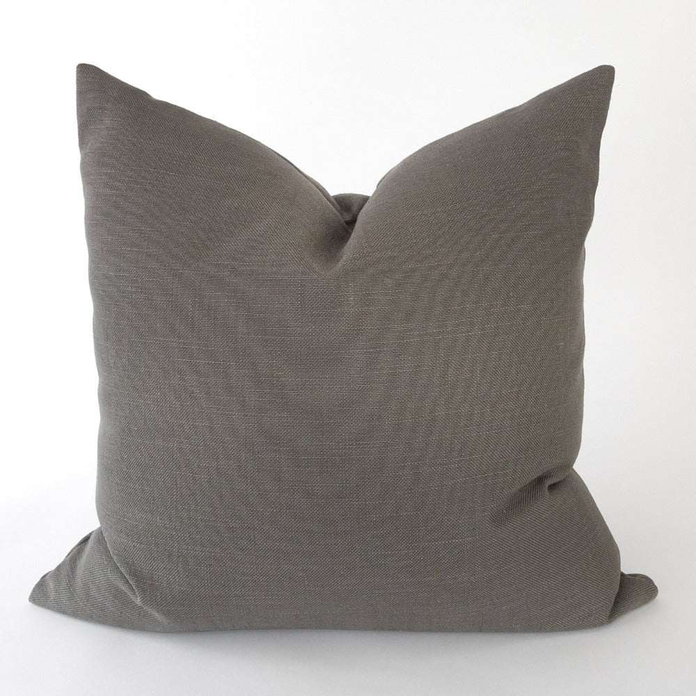 Adelaide Pillow, Graphite dark grey pillow from Tonic Living