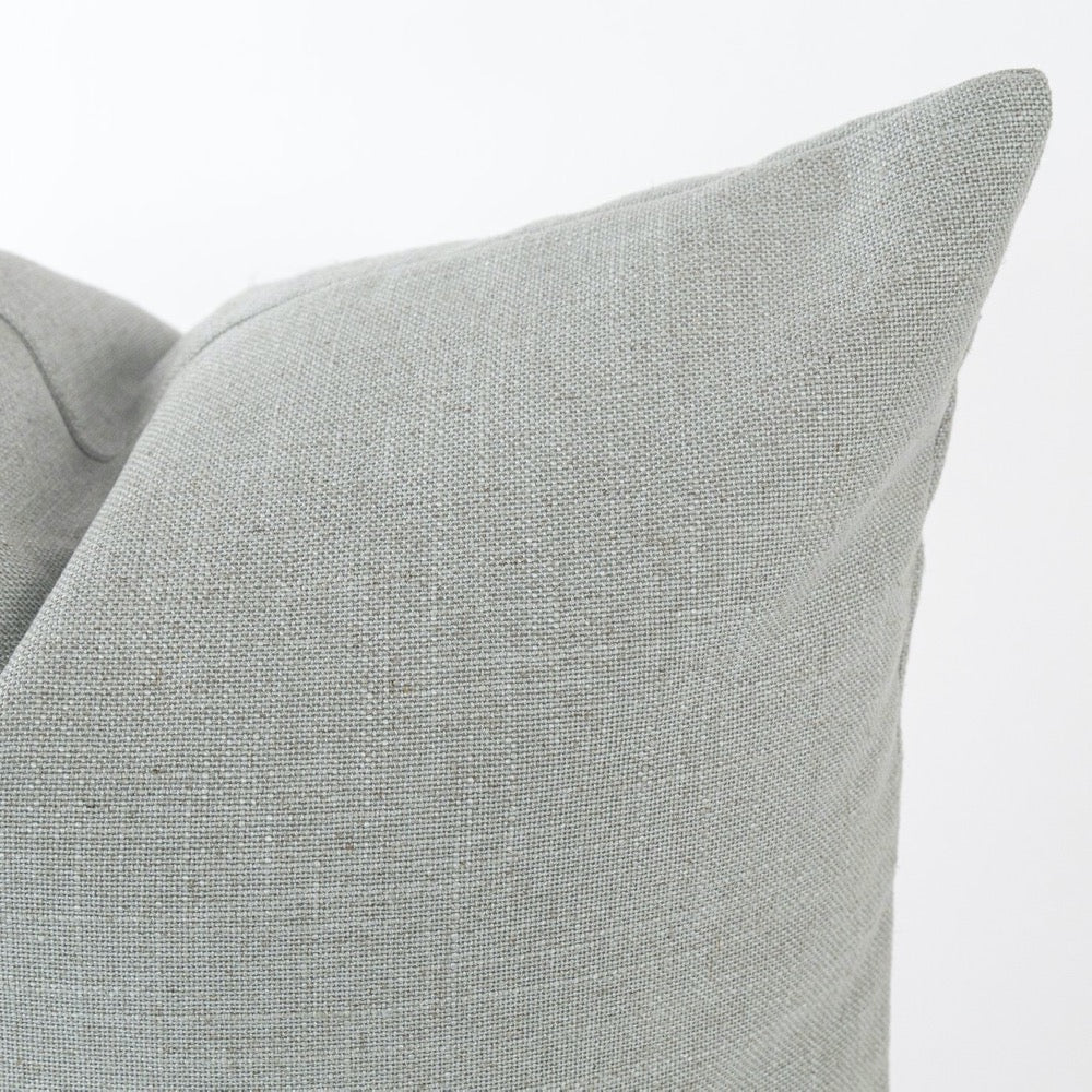 Adelaide Pillow, Seamist a linen blend pillow in a mist blue from Tonic Living