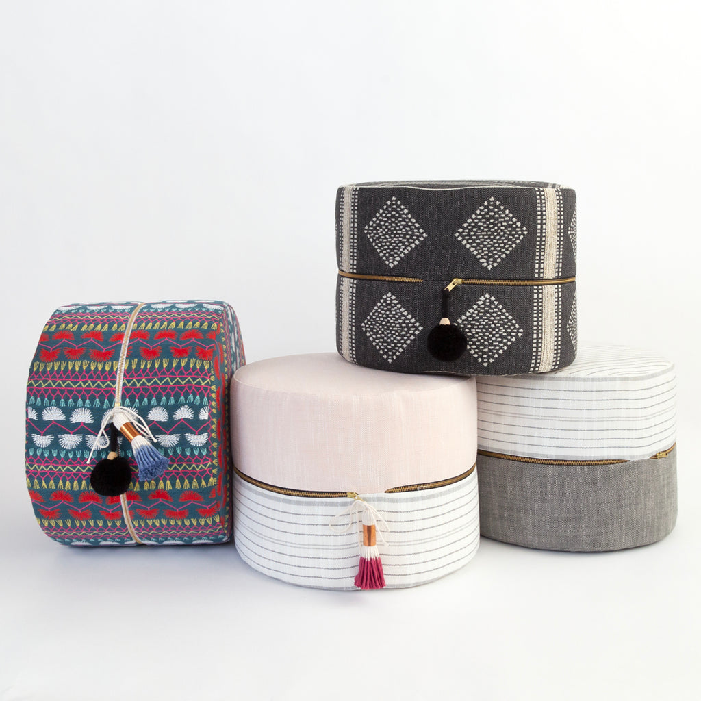 Mini ottomans from Tonic Living