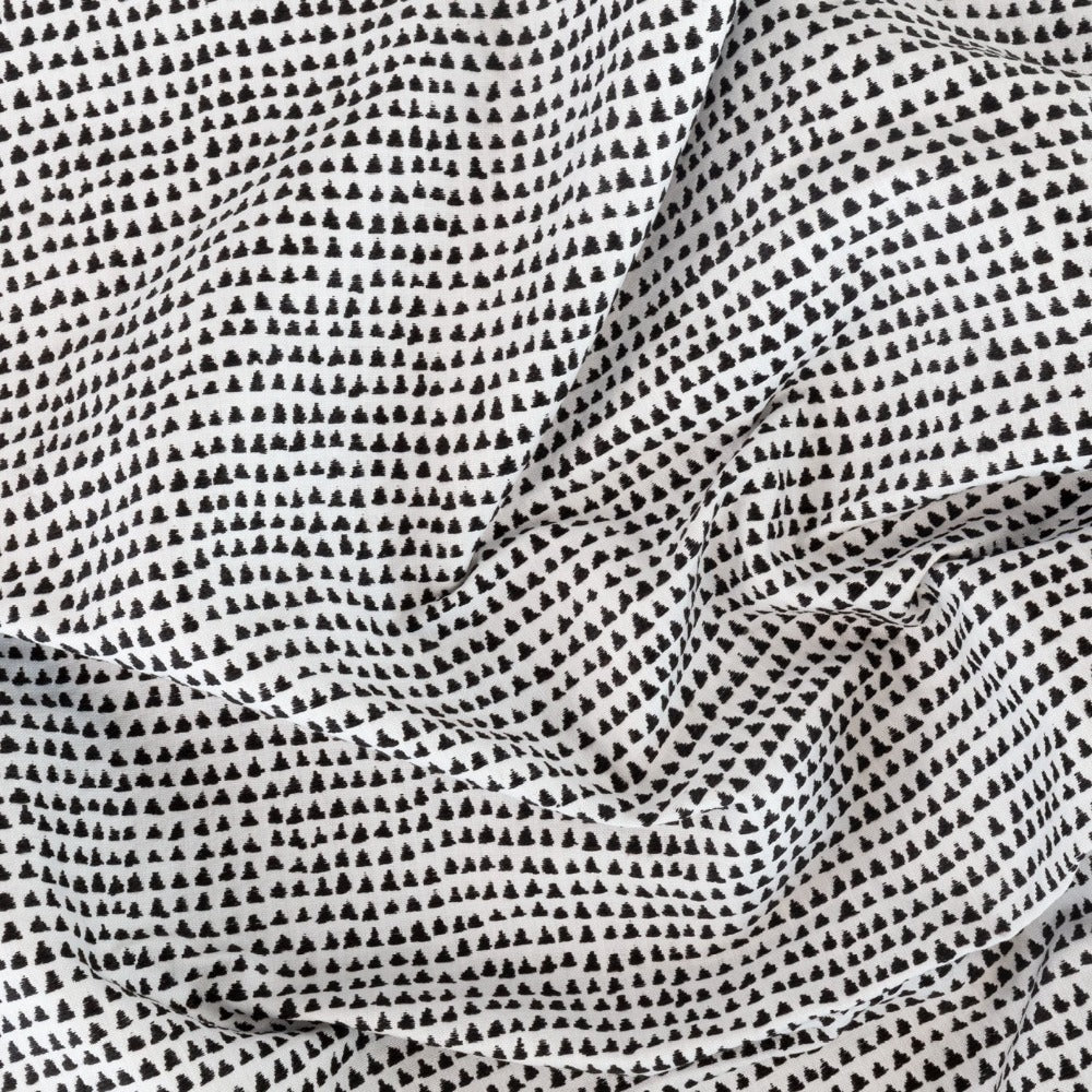 Archer, a modern black and white graphic fabric from Tonic Living