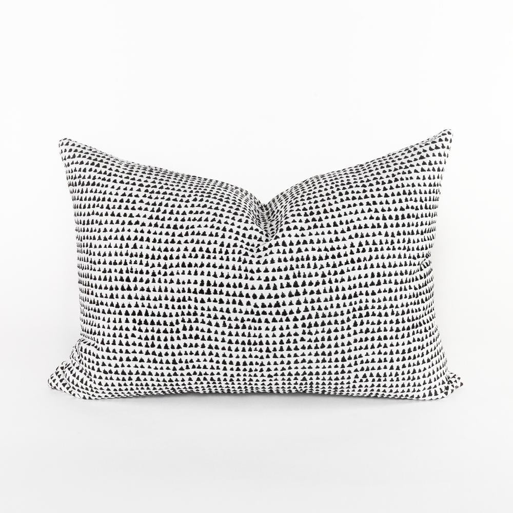 archer domino black and white lumbar pillow from Tonic Living