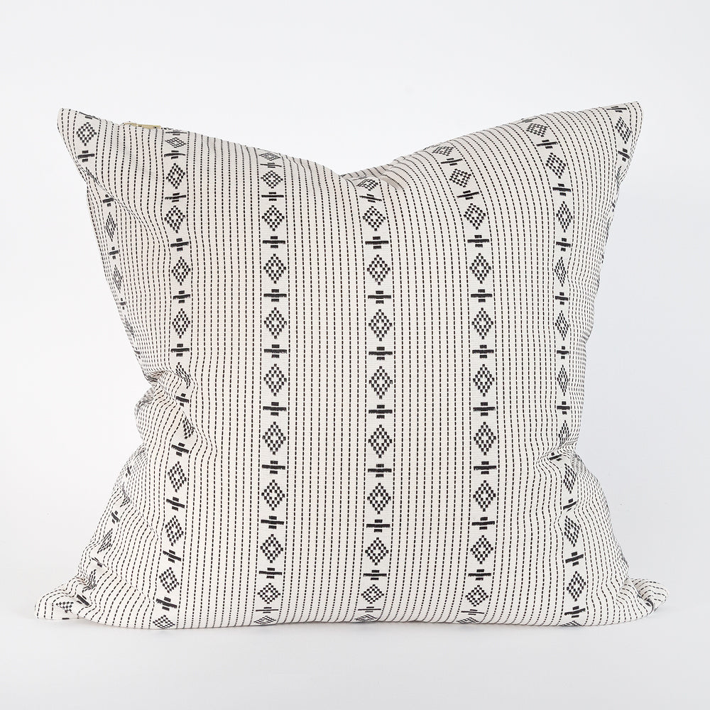 Audrey, a white and black pattern stripe pillow from Tonic Living