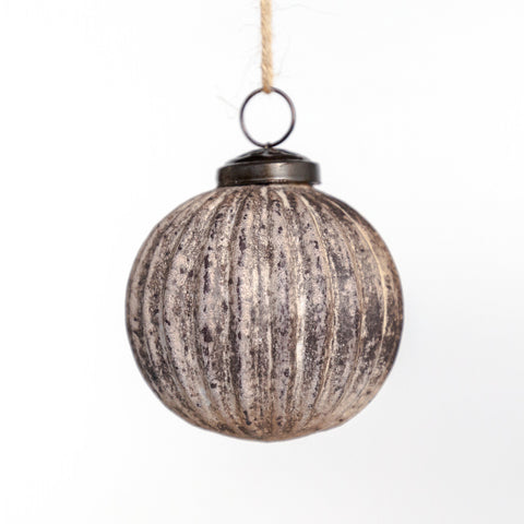 Aura Holiday Ornament, a burnished, gilded, antique finished glass ornament from Tonic Living