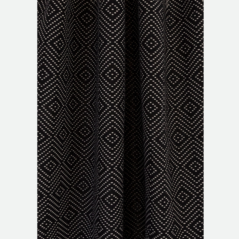 Ava, a black and white reversible diamond dash double weave fabric from Tonic Living