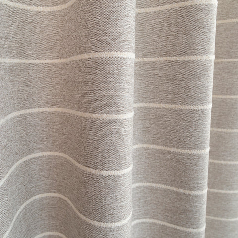 Avalon Stripe, Cobblestone taupe and cream stripe fabric from Tonic Living