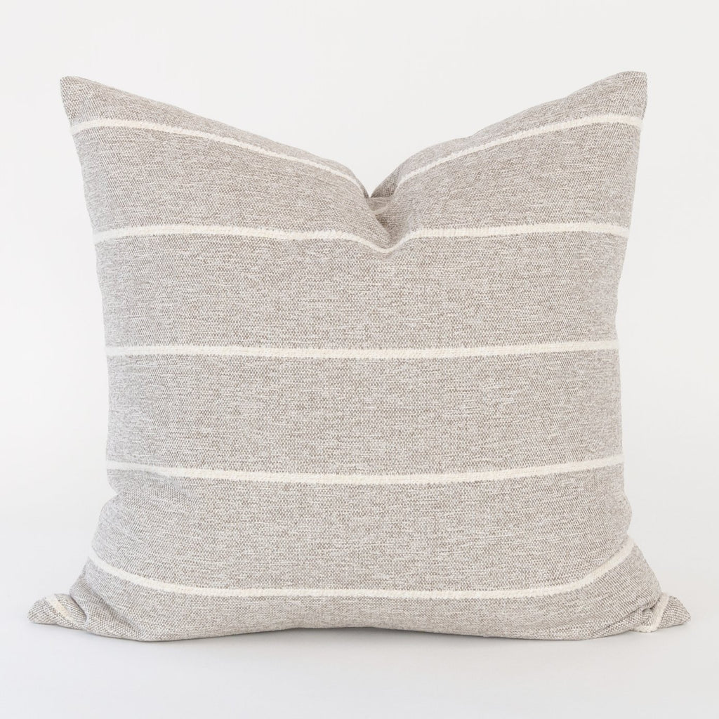 Avalon Stripe Cobblestone Pillow by Tonic Living