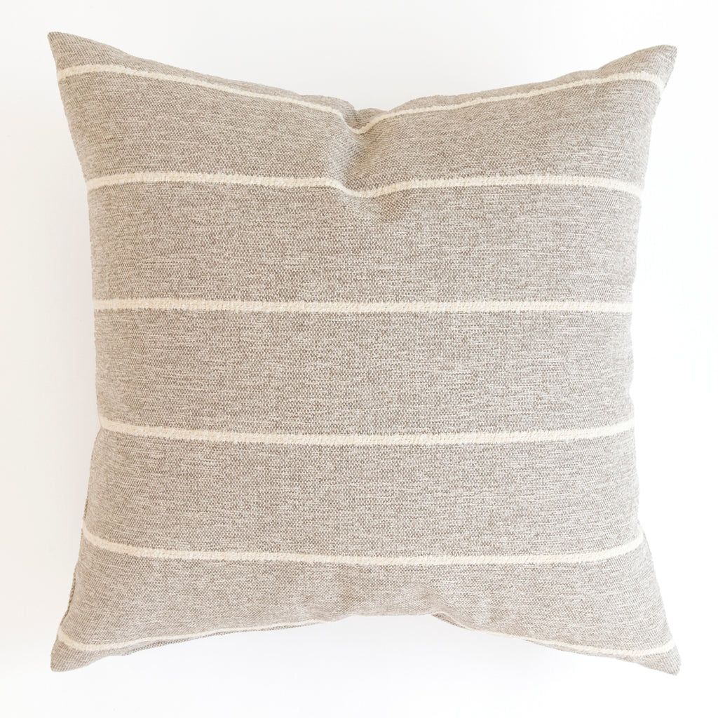 Avalon Stripe, Cobblestone taupe and cream stripe pillow from Tonic Living