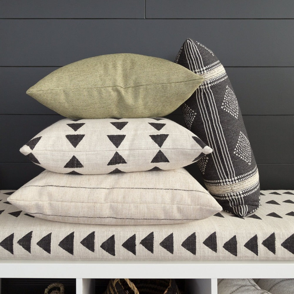 Bedouin block print mudcloth patterned pillow from Tonic Living