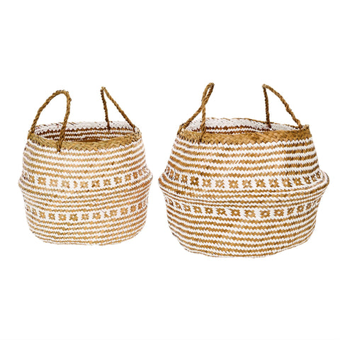 Belly Baskets, White + Natural - Tonic Living