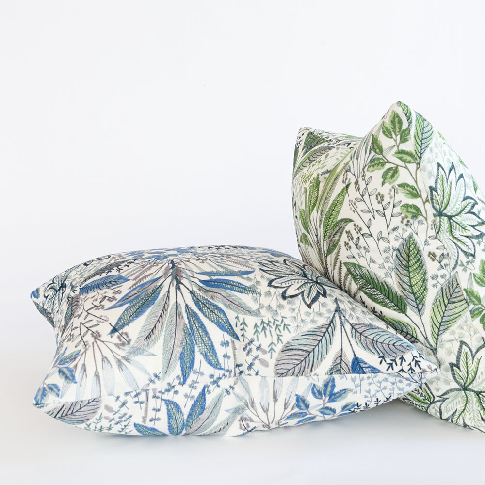 Blythe floral embroidery pillows from Tonic Living