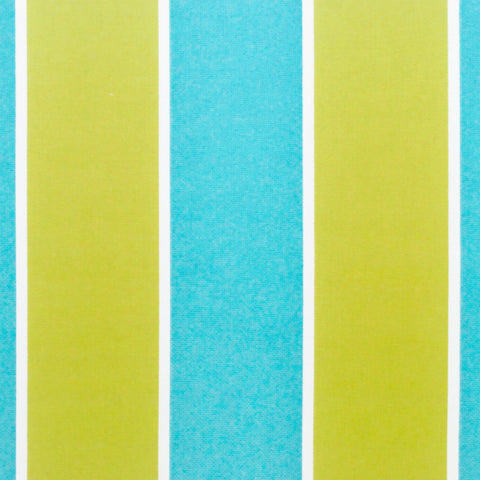 Cabana Stripe, Carribean Blue (Indoor / Outdoor) - Tonic Living