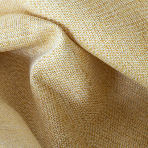 Calder, Maize - A warm, maize yellow and cream upholstery fabric with a great woven texture  - Tonic Living