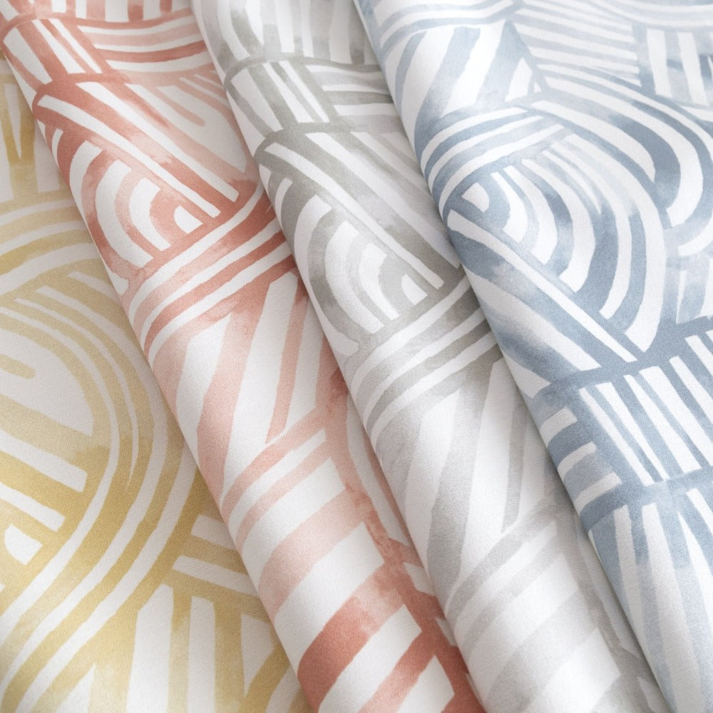Capri Fabric, a painterly, swirl pattern from Tonic Living