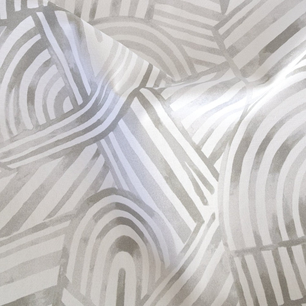 Capri Fabric, Mineral, a grey painterly, swirl pattern from Tonic Living