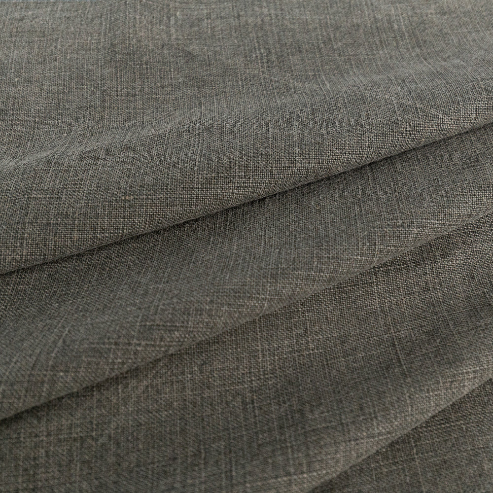 Kerry Linen, Marsh, an earthy grey-green two tone linen fabric from Tonic Living