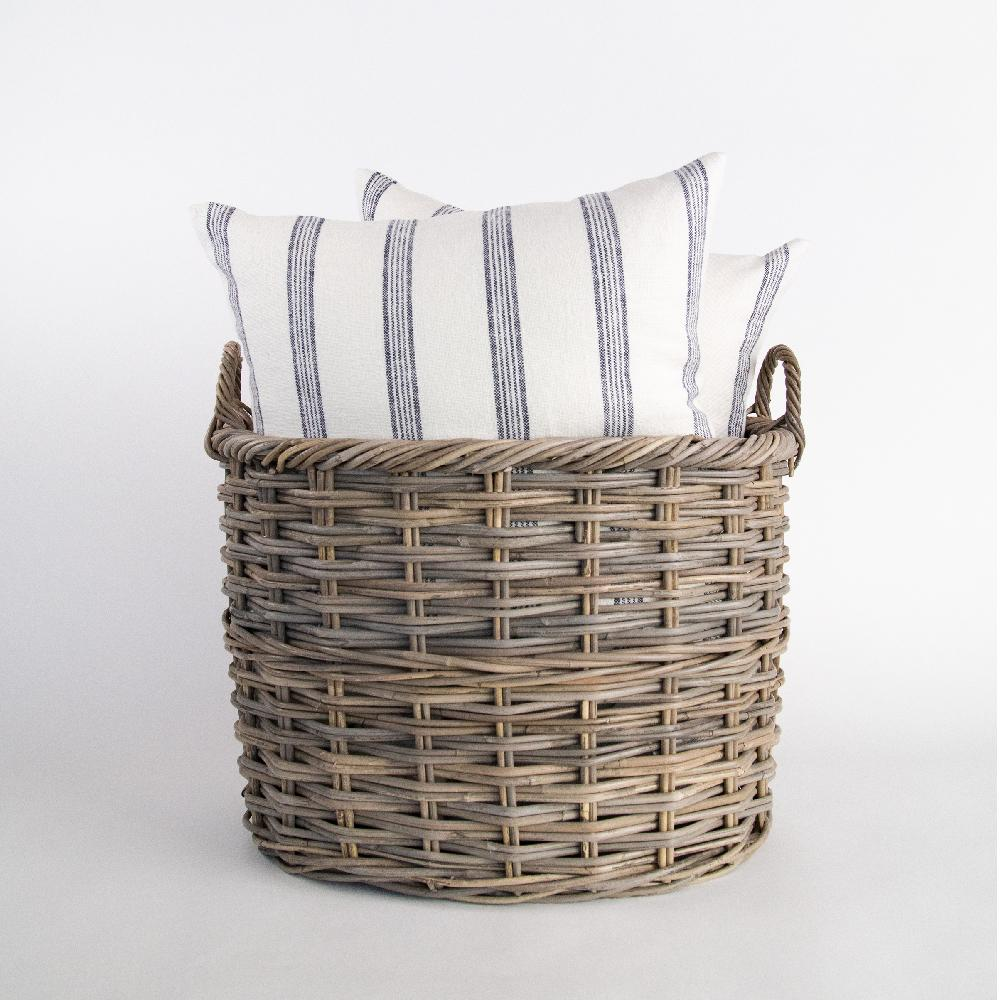 Crosby Basket, A hearty oval wicker basket in three sizes from Tonic Living