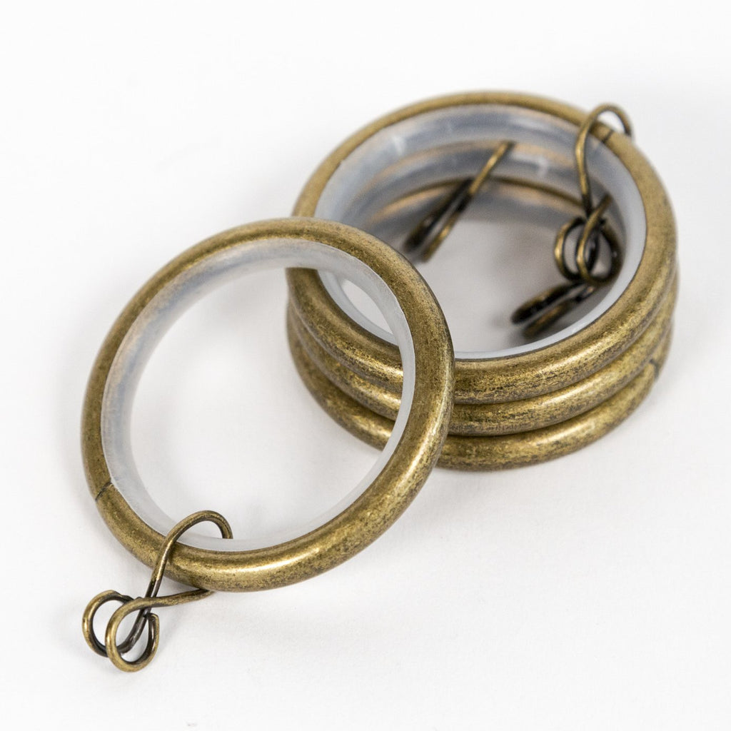 Drapery and curtain rings from Tonic Living, old gold