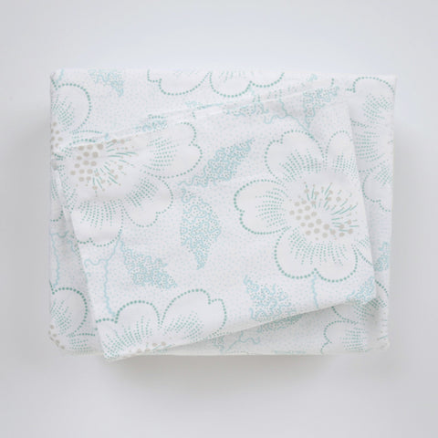 Duvet Cover Set - Floral Dot Jade - Tonic Living