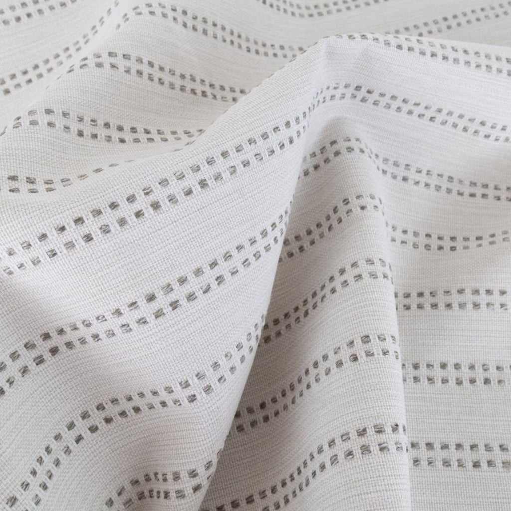 Elodie Stripe, Felt, a cream with taupe stripe high performance fabric from Tonic Living