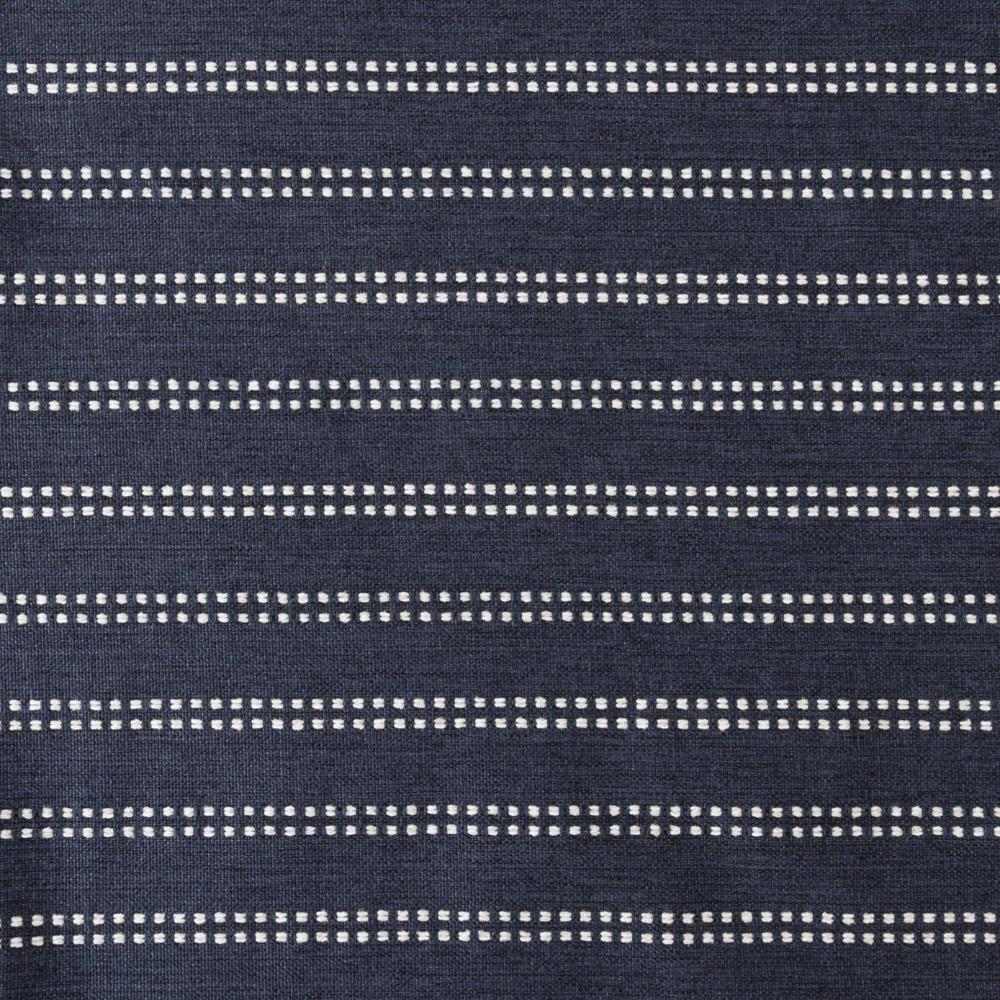 Elodie indigo blue and white stripe high performance fabric from Tonic Living