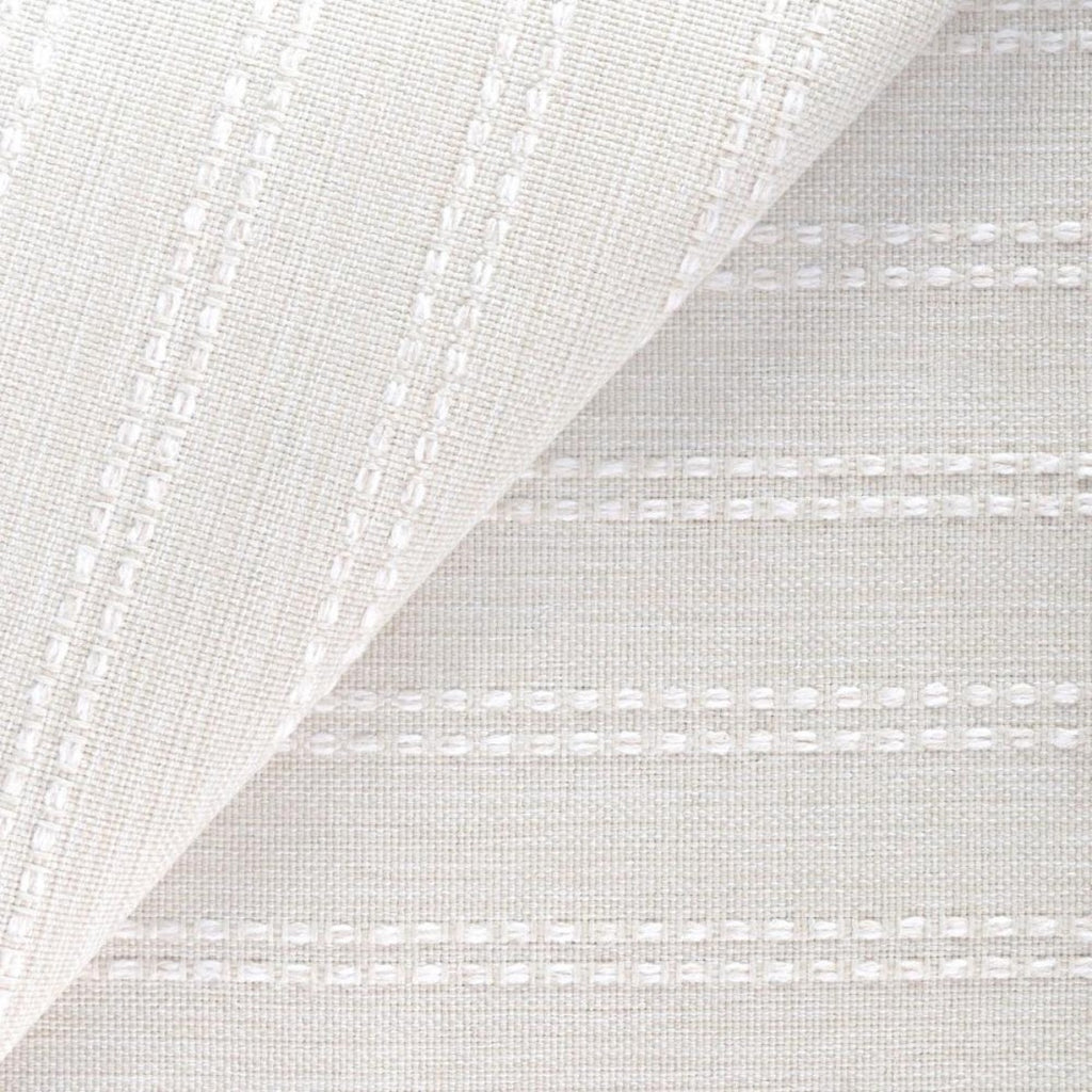 Elodie, Salt, a cream with ivory stripe high performance fabric from Tonic Living