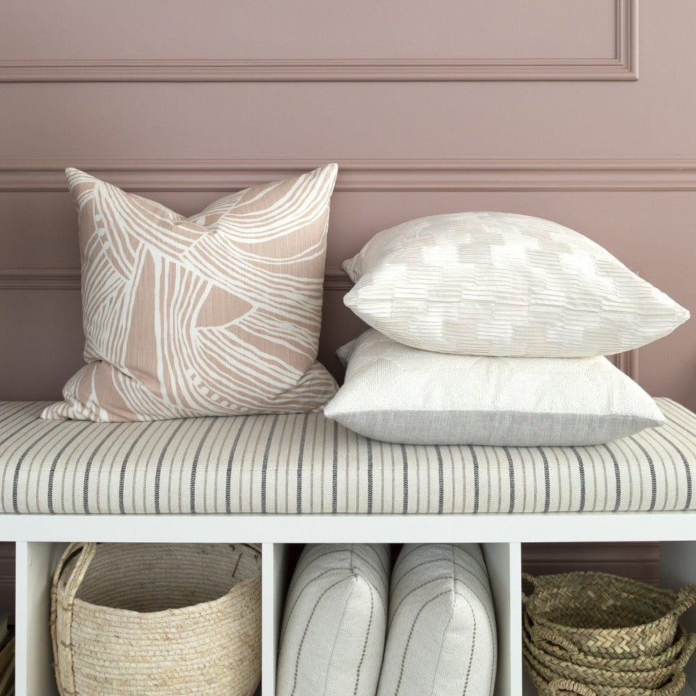Euclid pink patterned cotton pillow from Tonic Living