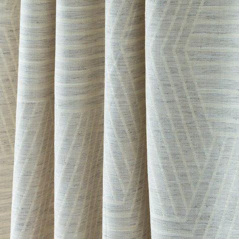 Evora, Dove - A subtle patterned, two-tone geometric fabric in cream and dove grey - Tonic Living