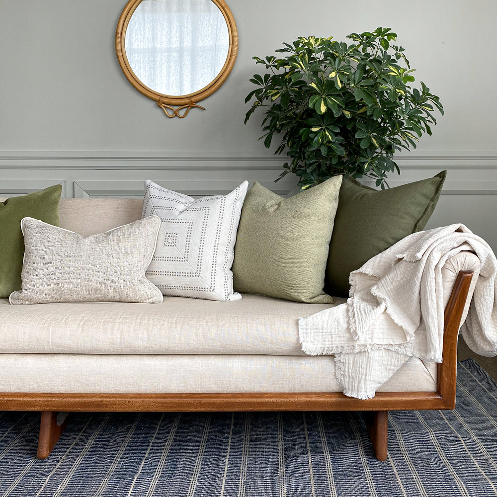 Green pillow combos from Tonic Living