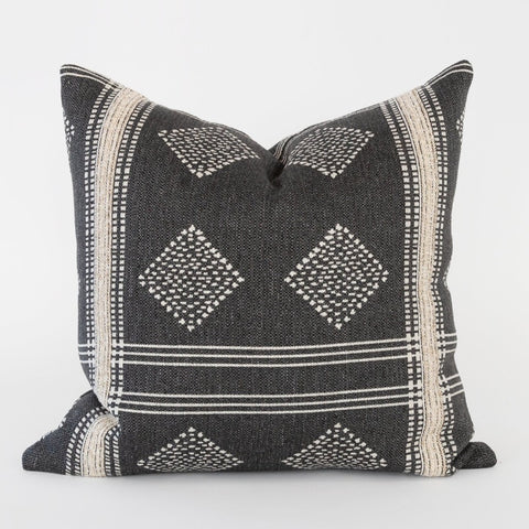 Hobbs charcoal grey global lumbar pillow, Graphite, by Tonic Living