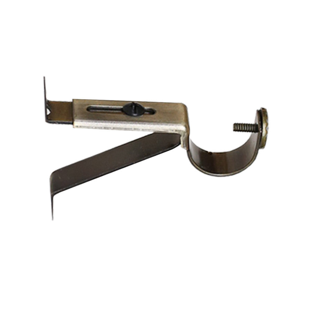 Old gold wall bracket drapery hardware from Tonic Living