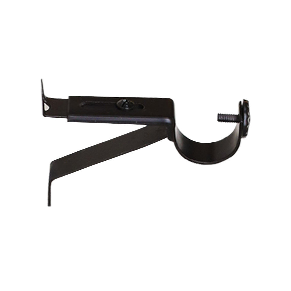Black wall bracket drapery hardware from Tonic Living