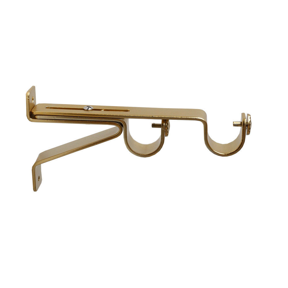 Matte gold double wall bracket drapery hardware from Tonic Living