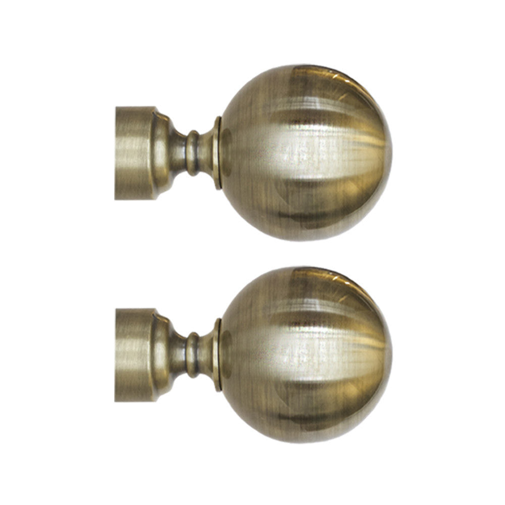 Old gold finial ball drapery hardware from Tonic Living