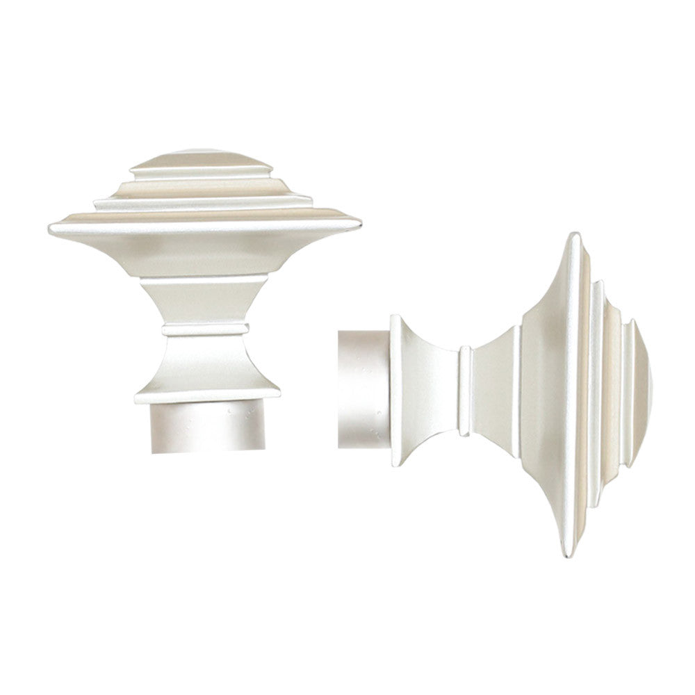 Pewter classic finial drapery hardware from Tonic Living