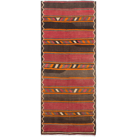 Hattie vintage brown and red stripe kilim rug from Tonic Living