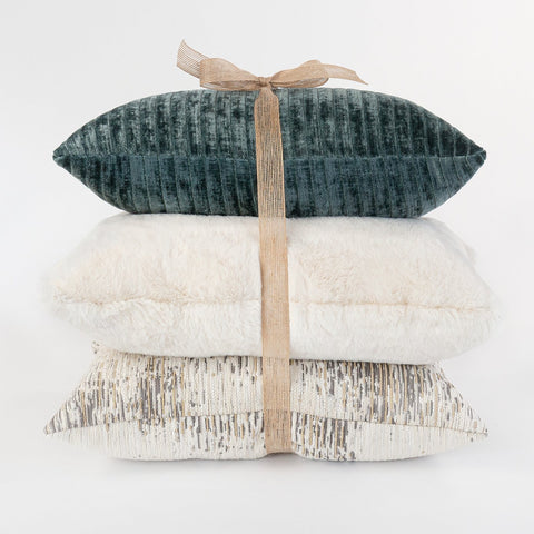 Tonic Living holiday pillow trio, Iona, Oslo and Moonwalk mini lumbar pillow combo