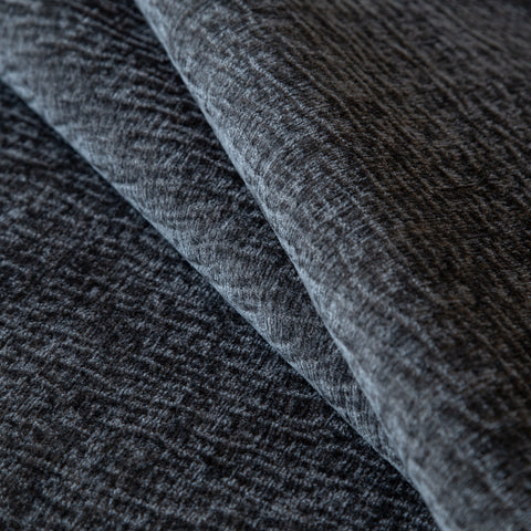 Irving, Charcoal - A charcoal grey velvet fabric with a soft and subtle texture - Tonic Living